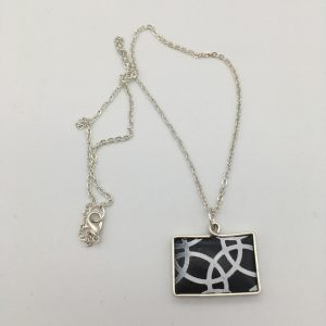 Black and White Circles Design Necklace