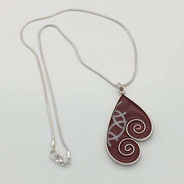 Double Swirl Necklace