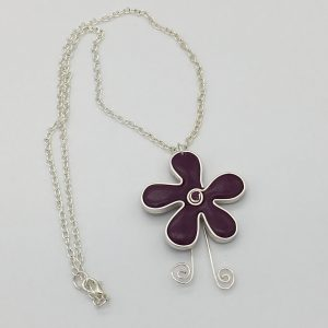Small Plum Flower Necklace