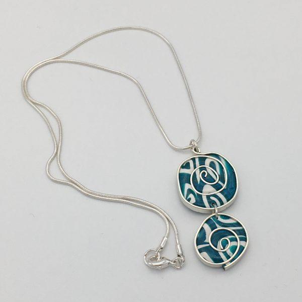 Turquoise Swirls Necklace