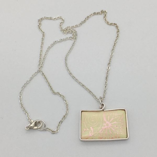 Yellow and Pink Flower Design Necklace