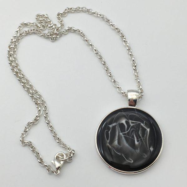 Black Circle Necklace
