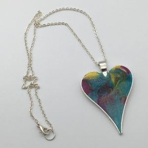 Large Turquoise Heart Necklace