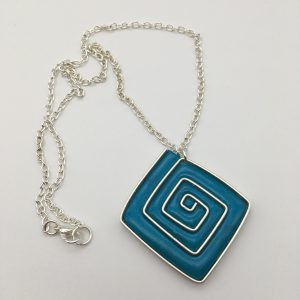 Square Swirl Necklace