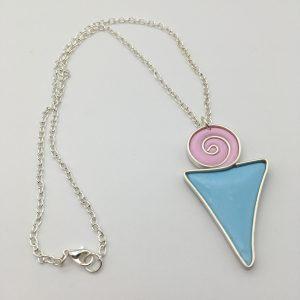 Swirl Triangle Necklace