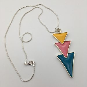 Triple Triangle Drop Necklace