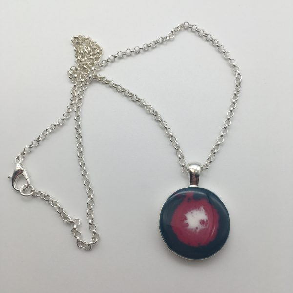 Green Target Circle Necklace