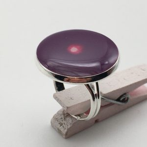 Large Dark Purple Target Ring