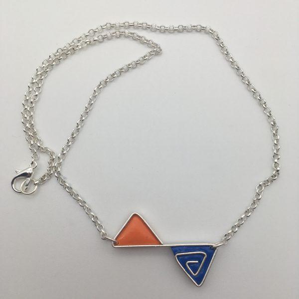 Triangle Swirl Necklace