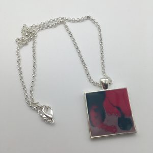 Purple and Pink Square Necklace