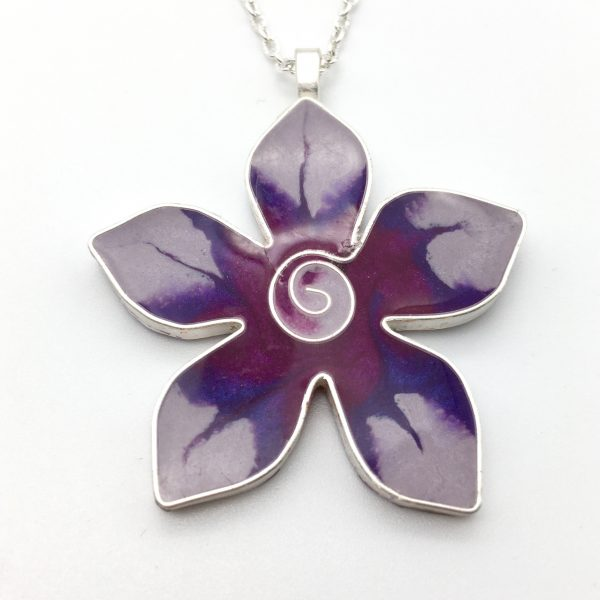 Deep Pink Flower Necklace