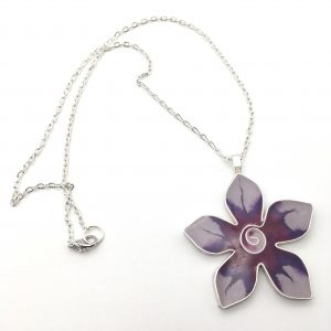 Deep Pink Flower Necklace