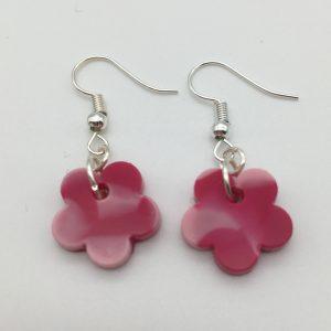 Tiny Pink Flower Earrings