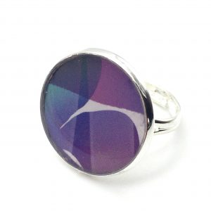 Large Abstract Print Ring