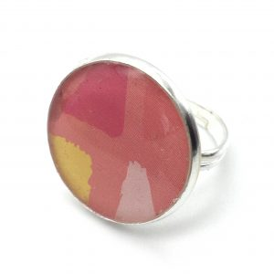 Large Colour Block Print Ring