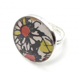 Large Flower Print Ring