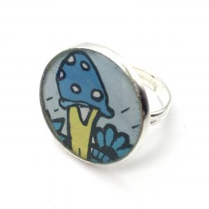 Large Toadstool Print Ring