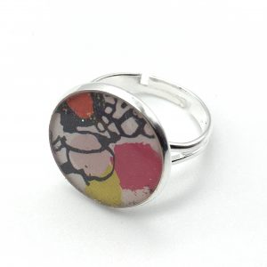 Medium Abstract Print Ring