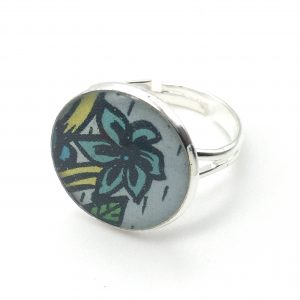 Medium Flower Print Ring