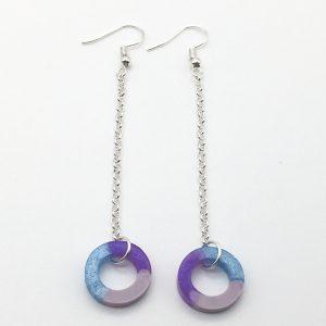 Multicoloured 'O' Long Drop Earrings