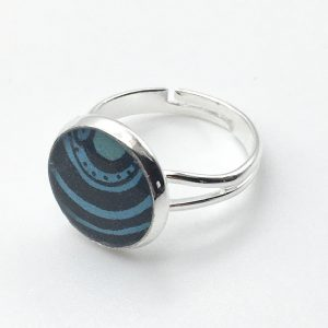 Small Circles Print Ring