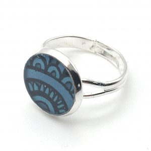 Small Curved Print Ring