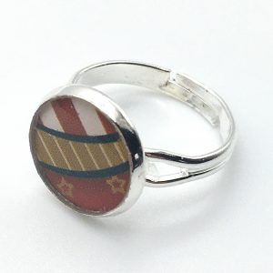 Small Striped Print Ring