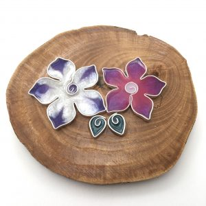 Wood Double Flower Wall Hanging