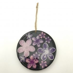 Round Black Flower Wall Hanging