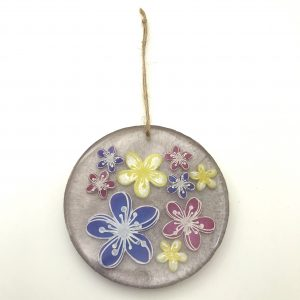 Round Lilac Flower Wall Hanging