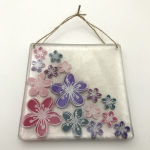 Square White Flower Wall Hanging