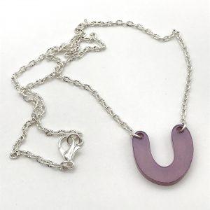 Lilac Curve Drop Necklace