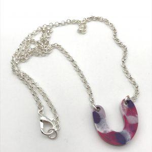 Multicoloured Curve Drop Necklace