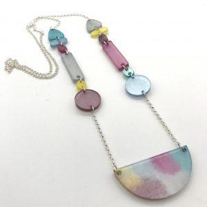 Multicoloured Pastel Longline Necklace