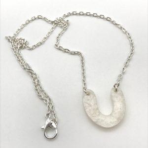 White Curve Necklace