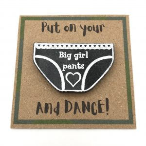 Big Girl Pants - Black Glitter