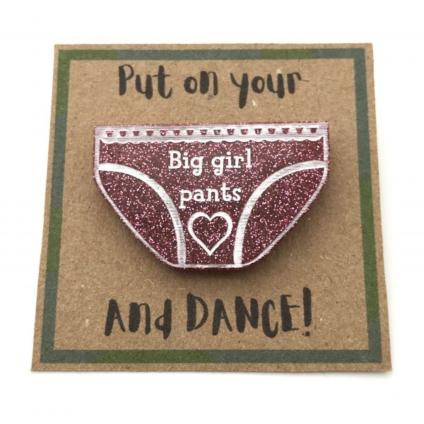Big Girl Pants - Pink Glitter