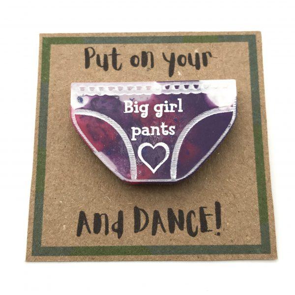 Big Girl Pants - Pink and Purple