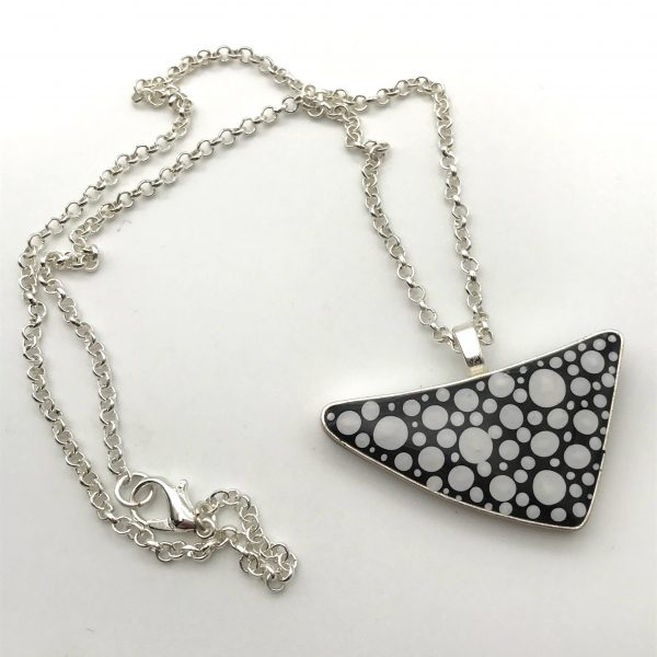 Black and White Dot Triangle Necklace