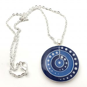 Blue Dot Target Necklace