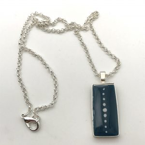 Green Dot Rectangle Necklace