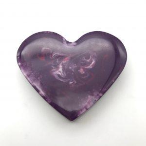 Heart Magnet - Opaque Purple Swirl