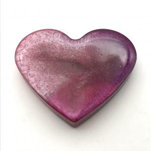 Heart Magnet - Pink Tones