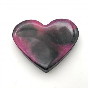 Heart Magnet - Pink and Black