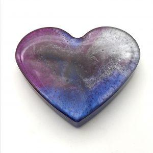 Heart Magnet - Purple Swirl