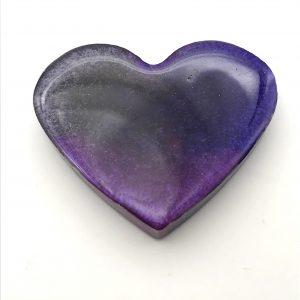 Heart Magnet - Purple Tones