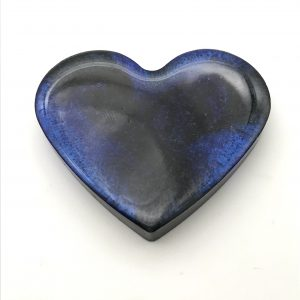 Heart Magnet - Purple and Black