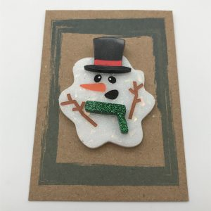 Melted Snowman - Green Glitter and Red