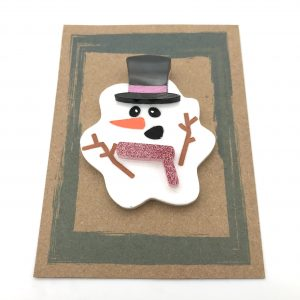Melted Snowman - Pink Glitter and Pink