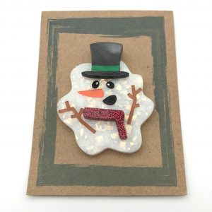 Melted Snowman - Red Glitter and Green
